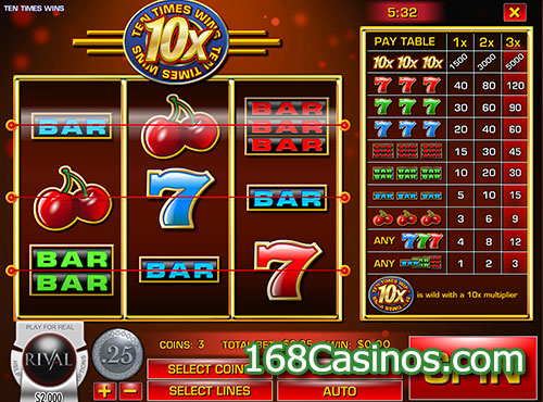 Ten Times Wins Slot Review & Free Online Demo Game
