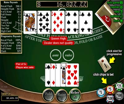 free online casino no deposit required caribbean stud