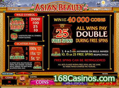 Asian Beauty Slot Bonus