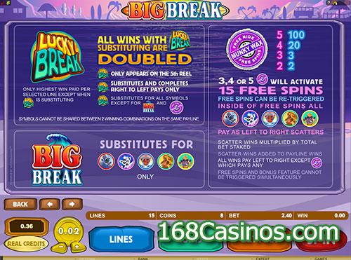 Big Break Slot Bonus