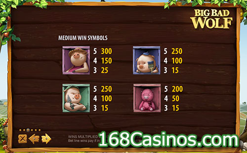 Big Bad Wolf Slot Pay Table