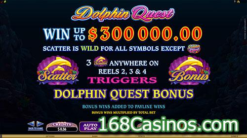 Dolphin Quest Slot Bonus