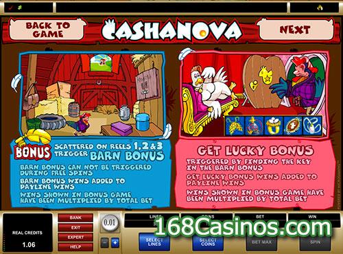 Cashanova Slot Bonus Games