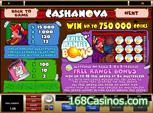Cashanova Slot Free Range Bonus