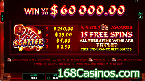 Dragon Dance Slot Free Spins