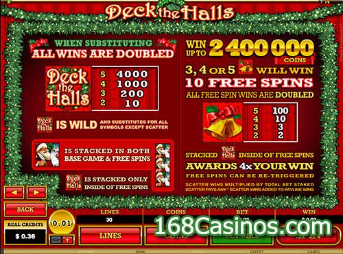Deck The Halls Slot Bonus and Free Spins
