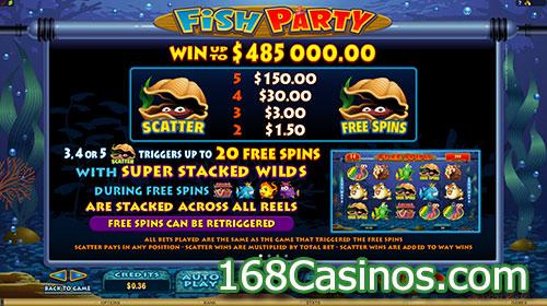 Fish Party Slot Bonus and Free Spins