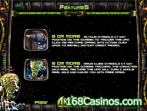 Arrival Video Slot Features Games