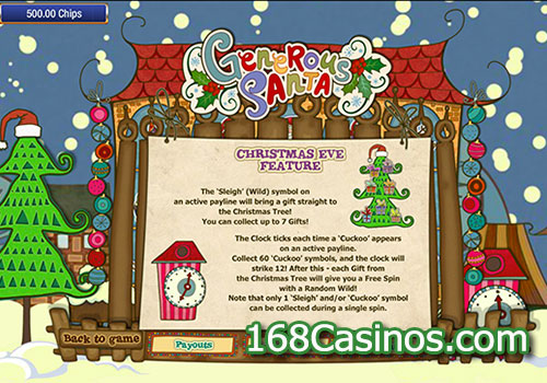 Generous Santa Slot Feature Game