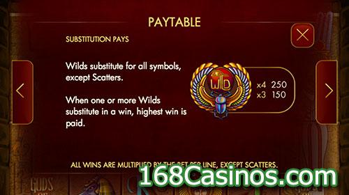 Gods of Giza Slot Wild Bonus