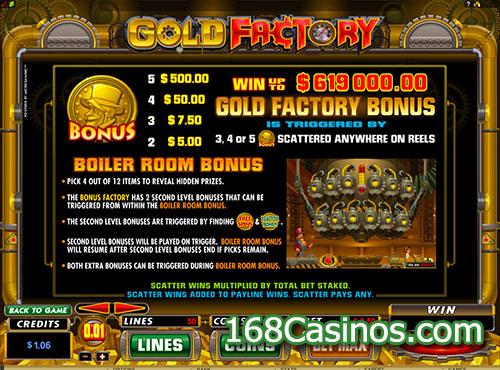 Gold Factory Slot Bonus
