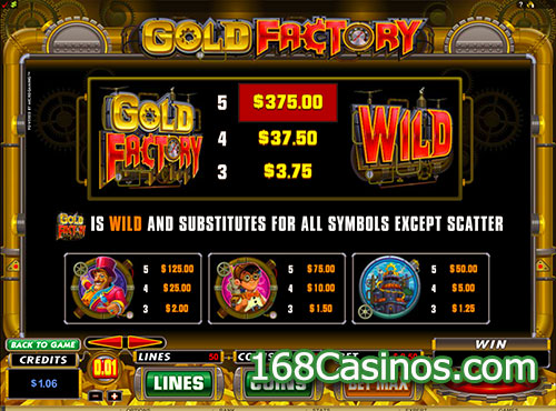 Gold Factory Wild Symbol