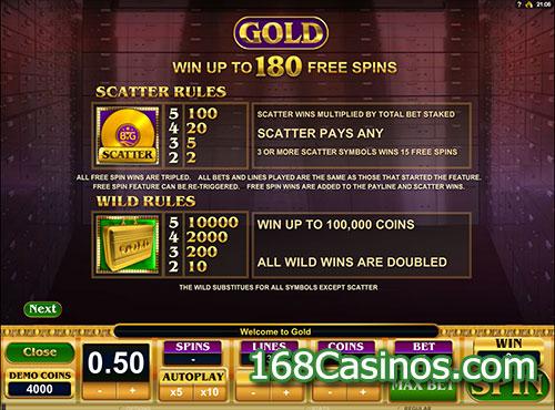 Gold Slot Scatter and Wild Bonus