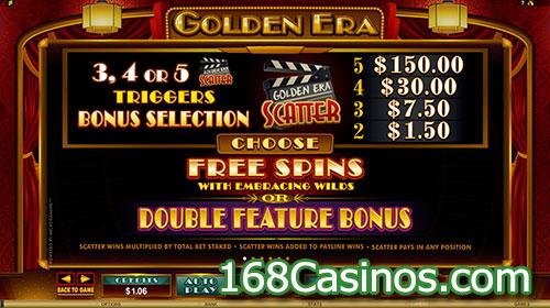 Golden Era Slot Double Feature Bonus