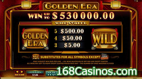 Golden Era Slot Wild Symbol