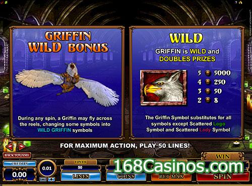 Great Griffin Slot Wild Bonus