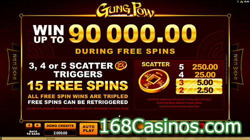 Gung Pow Slot Free Spins