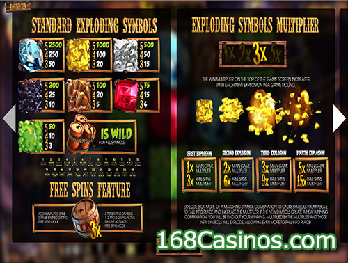 More Gold Diggin Slot Paytable