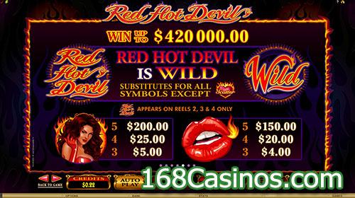 Red Hot Devil Wild Bonus