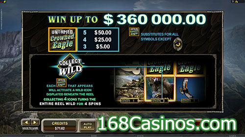 Untamed Crowned Eagle Slot Wild Bonus