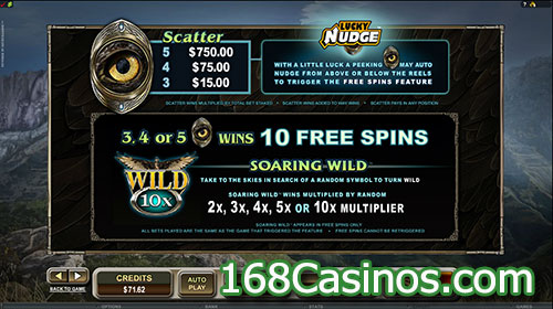 Untamed Crowned Eagle Slot Free Spins Bonus