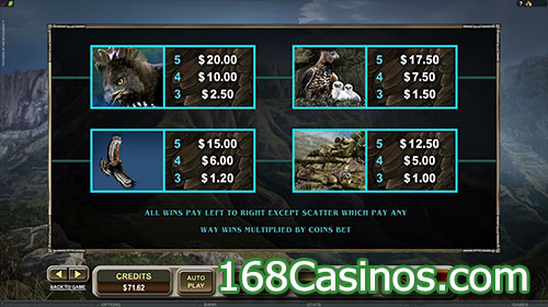 Untamed Crowned Eagle Slot Payline