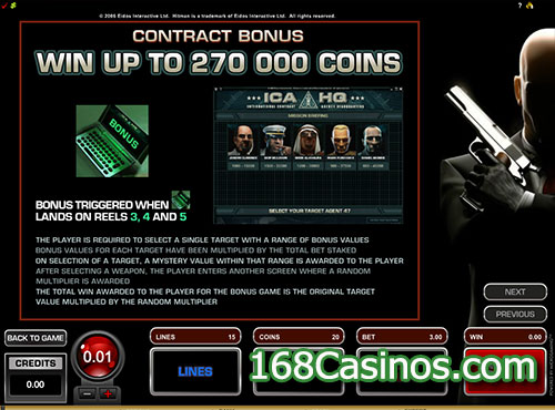 Hitman Slot - Contract Bonus