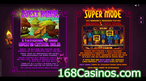 Hot As Hades Slot Bonus Games
