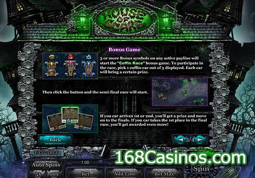 House of Scare Slot Bonus Game