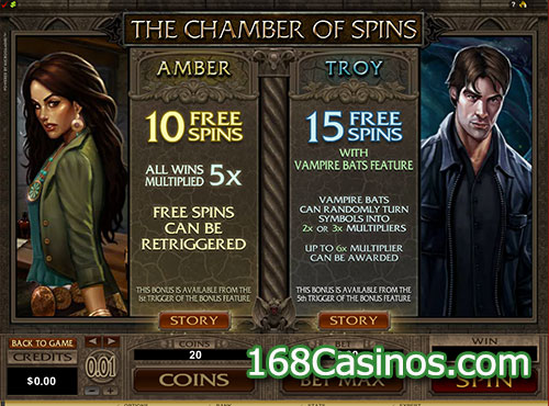 Immortal Romance Slot Free Spin Games