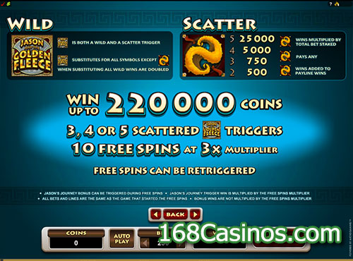 Jason and the Golden Fleece Slot - Free Spins Game