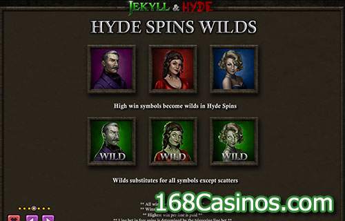 Jekyll & Hyde Video Slot - Hyde Spins Wilds