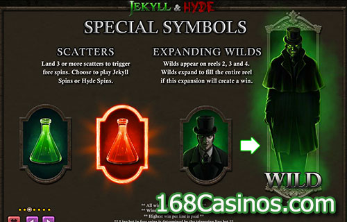 Jekyll & Hyde Video Slot - Special Symbols