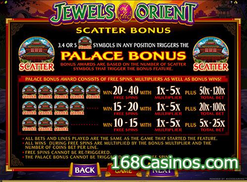 Jewels of the Orient Slot - Scatter Bonus