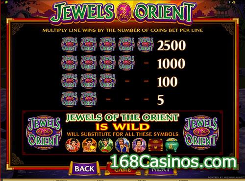 Jewels of the Orient Video Slot - Wild Bonus