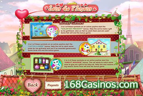 Jour de l'Amour Video Slot - Bonus Games