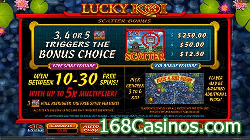 Lucky Koi Slot Scatter Bonus