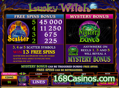 Lucky Witch Slot - Free Spins Bonus