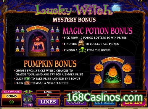 Lucky Witch Slot - Mystery Bonus
