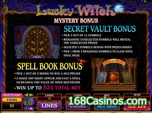 Lucky Witch Video Slot - Mystery Bonus