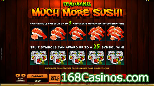So Much Sushi Slot Featuring
