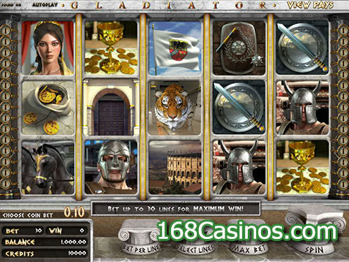 free online casino games gladiator