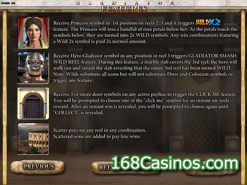 Gladiator Video Slot (Betsoft Gaming) - Bonus