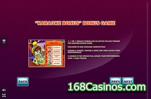 Karaoke Star Slot Bonus Game