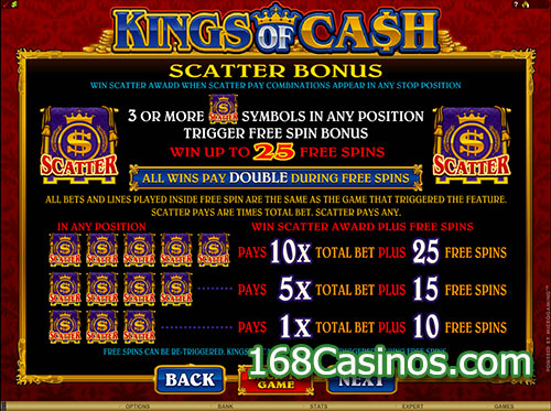 Kings of Cash Video Slot Bonus