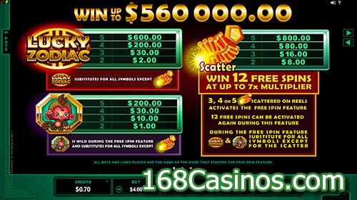 free slot online casino zodiac