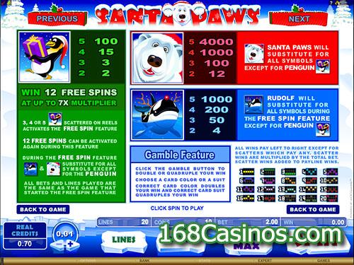 Santa Paws Video Slot Bonus