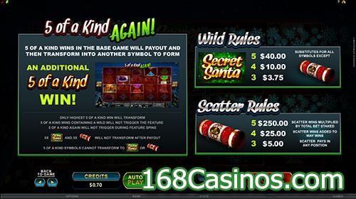 Secret Santa Video Slot Bonus