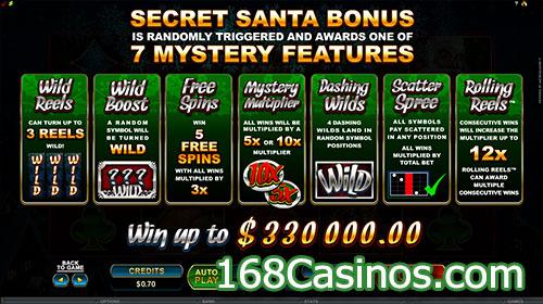 Secret Santa Slot Bonus Features