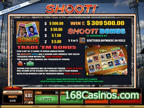 Shoot Online Slot Bonus